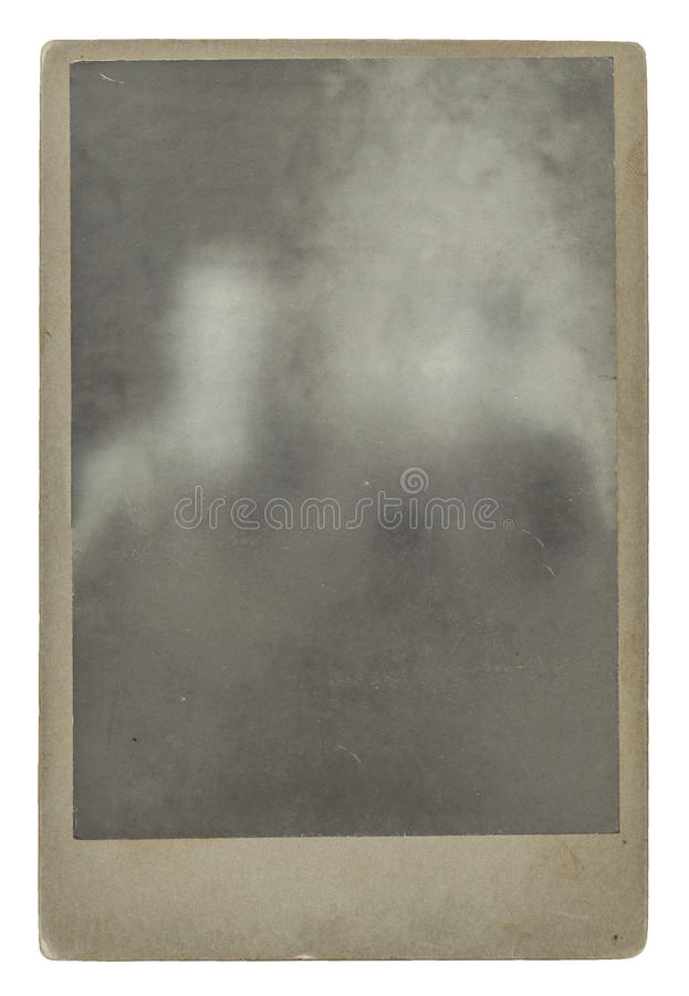 Vintage cabinet photograph. Isolated on white background with clipping path royalty free stock photos
