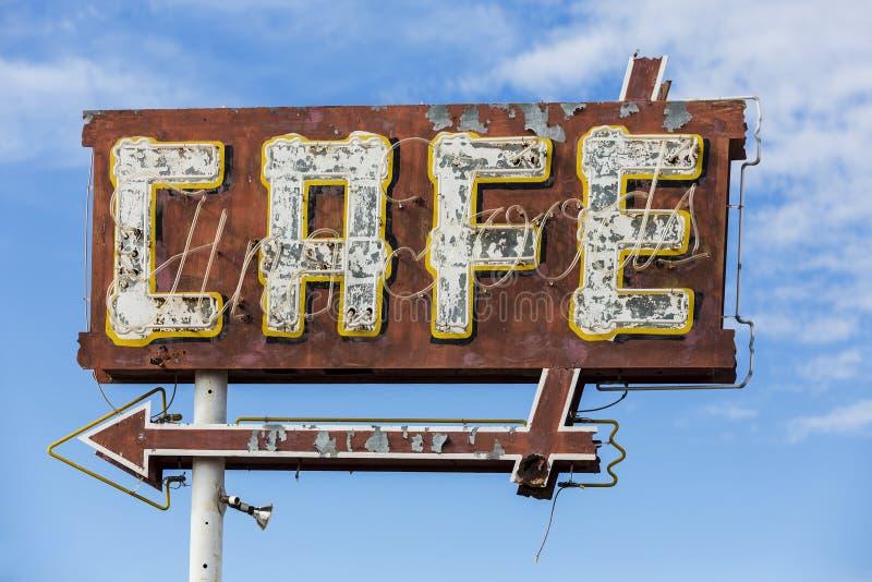 Vintage Cafe Sign stock images