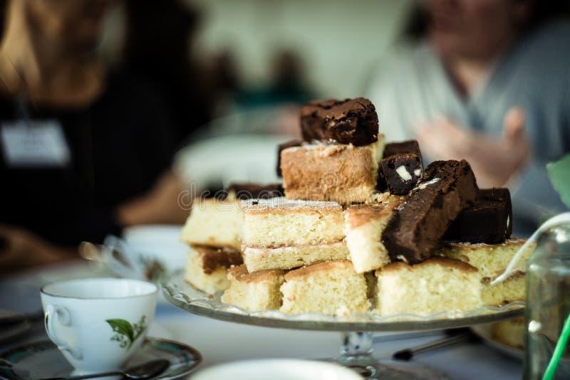 Vintage cake blur royalty free stock photography