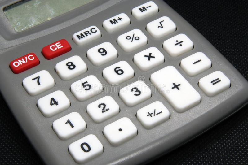 Vintage calculating tool. Calculator office tool. Old calculator. stock images