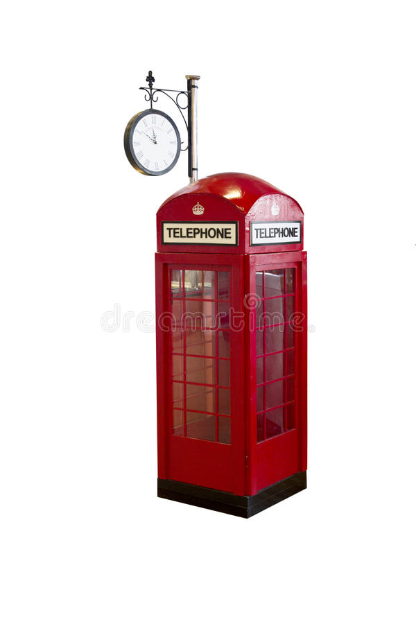 Vintage Callbox Telephone On White Background Royalty Free Stock Image