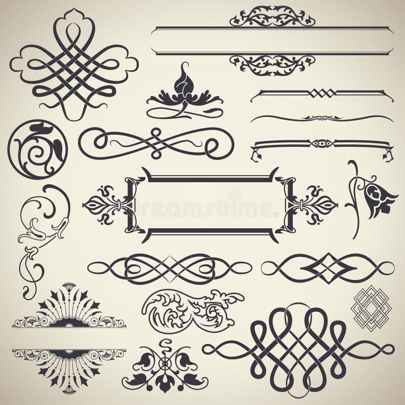 Vintage Calligraphic Design Elements Vector vector illustration