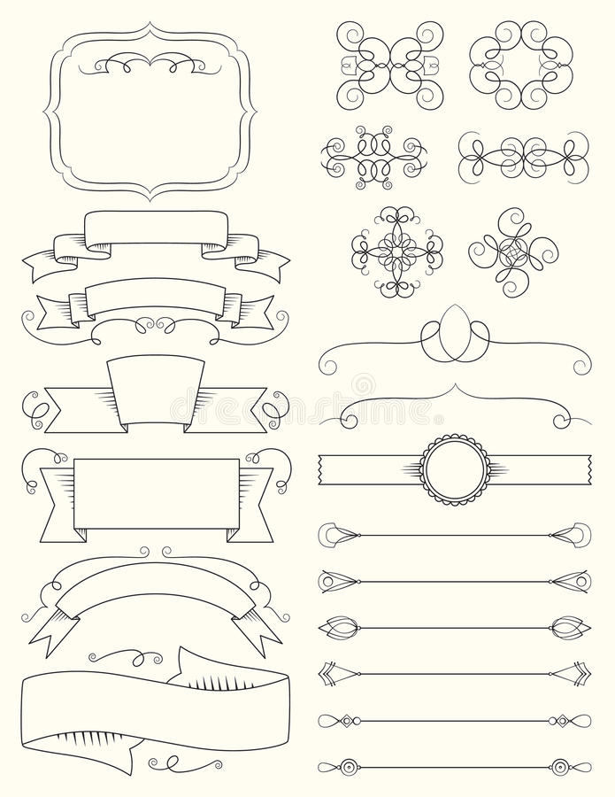 Download Vintage Calligraphy Design Elements Five Stock Vector