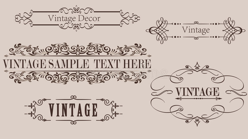 Vintage Calligraphy Frame Vector Graphics vector illustration