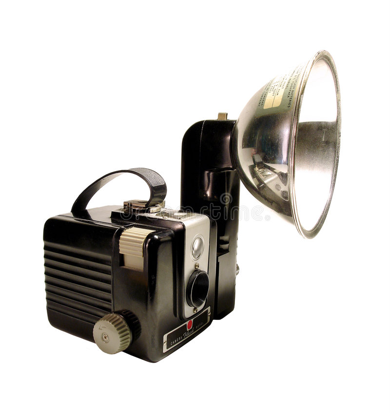 Vintage Camera. Photographed on white stock photos