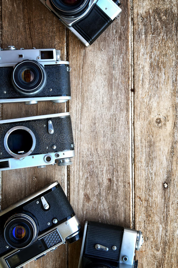 Vintage camera background.  stock photo