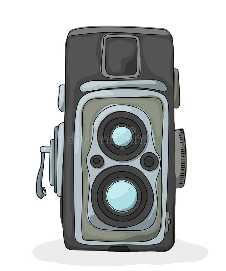 Download Vintage Camera Cartoon Stock Vector Illustration Of Picture