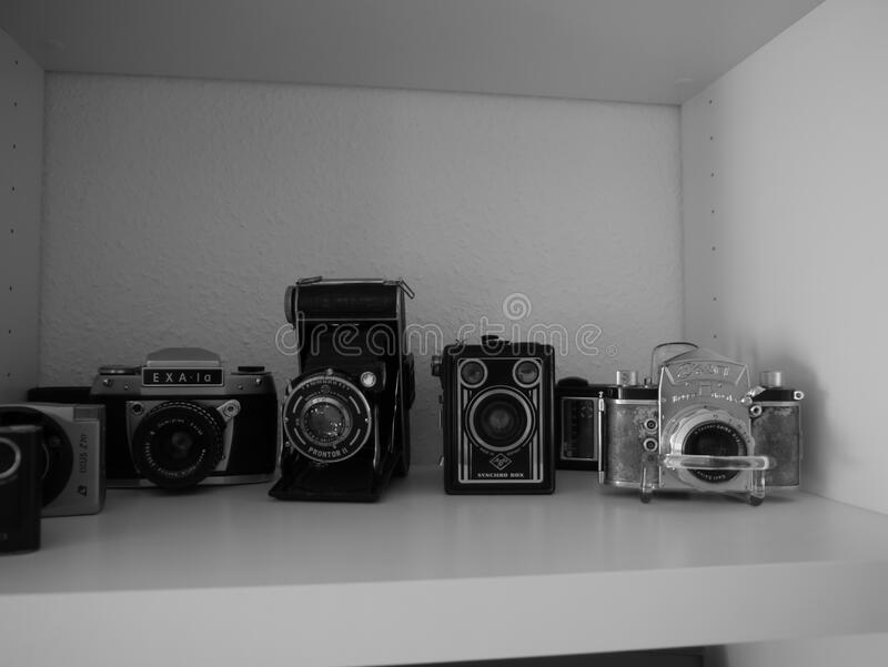 Vintage camera equipment royalty free stock images