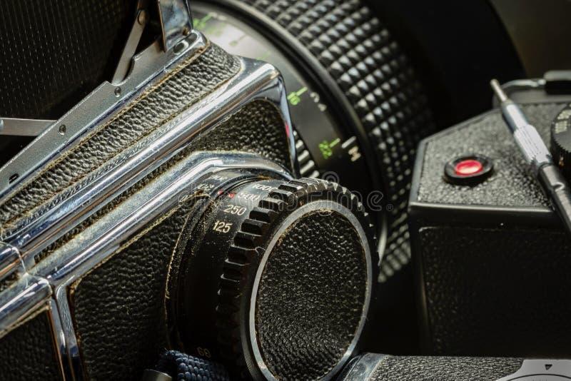 Vintage camera equipment stock photos