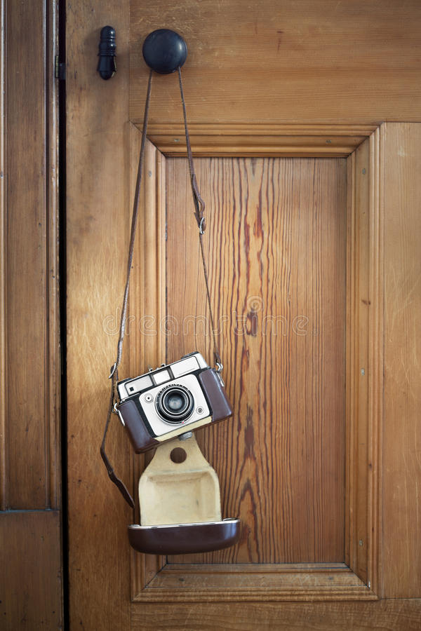 Download Vintage camera stock photo. Image of leather, still, indoors - 39273970