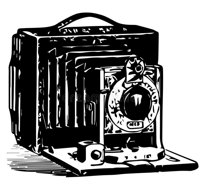 Download Vintage Camera Illustration Stock