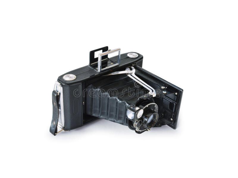 Vintage camera isolated royalty free stock image