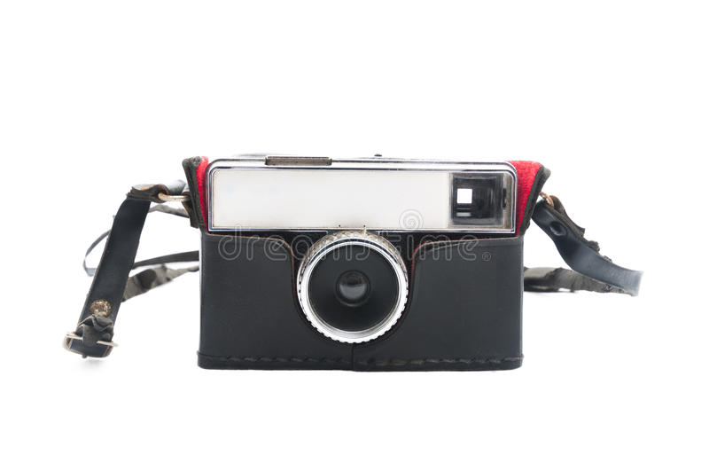 Vintage camera with leather case royalty free stock image