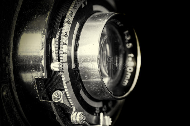 Vintage camera lens stock photos