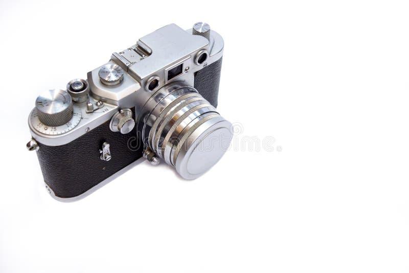Vintage Camera on white background.  royalty free stock photo