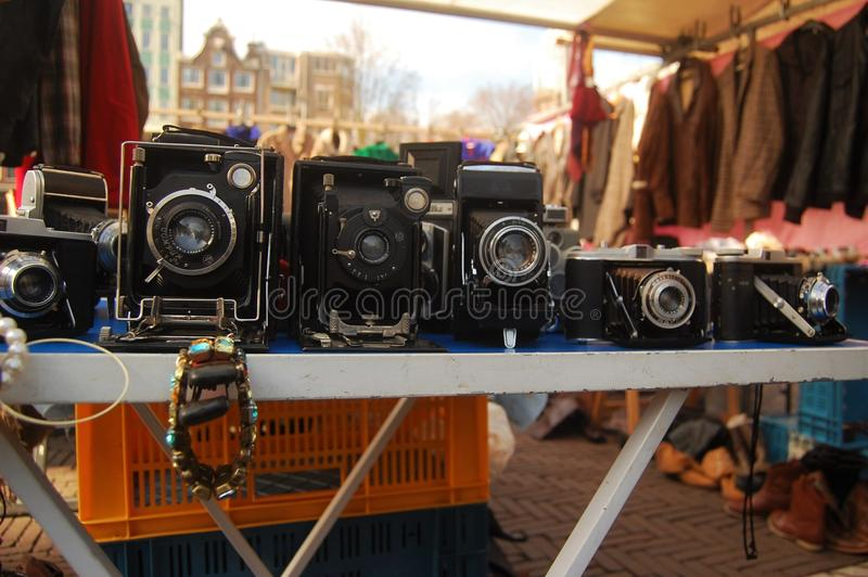 Vintage Cameras royalty free stock images