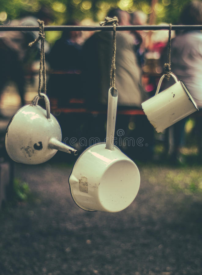 Download Vintage Camping Equipment Stock Image Of Hang