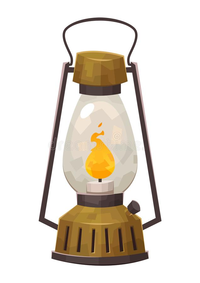 Free Vintage Camping Lantern Isolated On White Background Retro Gas Lamp For Hiking Stock Photography - 147447092