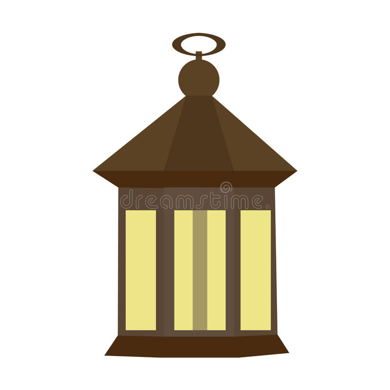 Free Vintage Camping Old Lamp For Hiking. Vector Illustration Stock Image - 95158741
