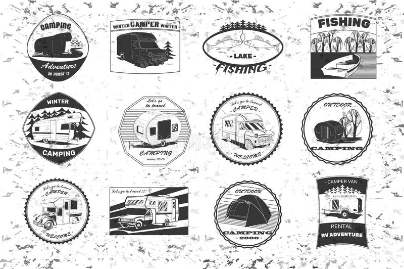 Download Vintage Camping And Outdoor Adventure Emblems Logos Badges Equipment Camp