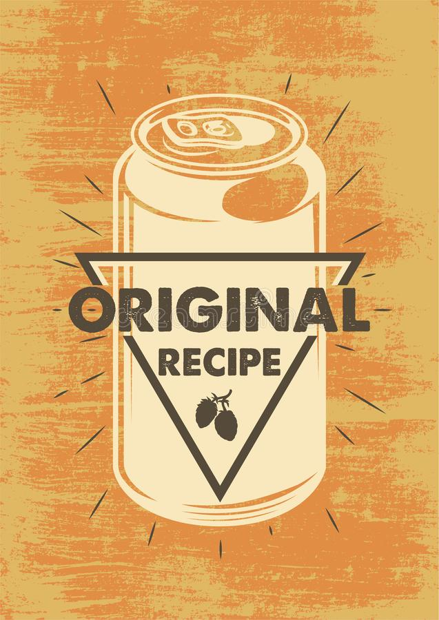 Vintage Beer poster royalty free illustration
