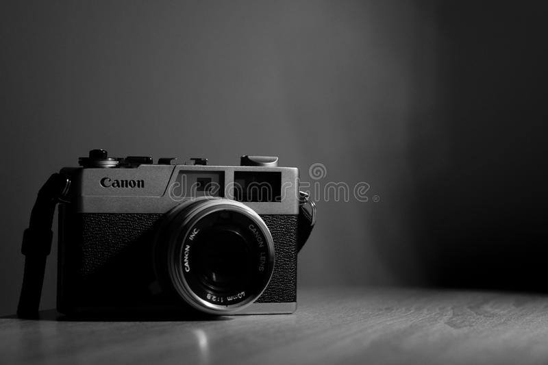 Vintage Canon camera stock photo