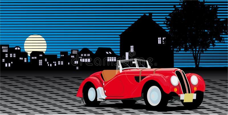 Vintage car. Transportation illustration vector royalty free illustration