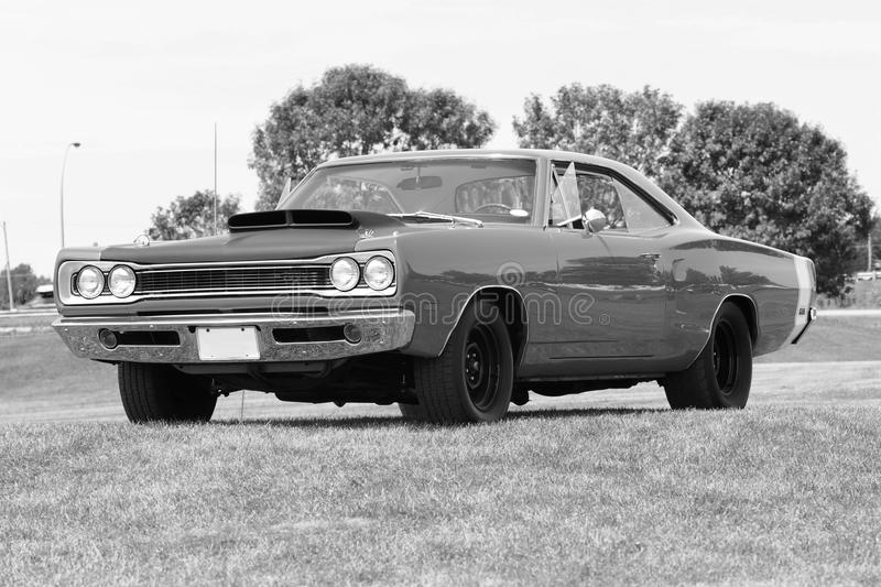 Vintage car. Picture of the dodge coronet super bee with 440-6pack engine royalty free stock image