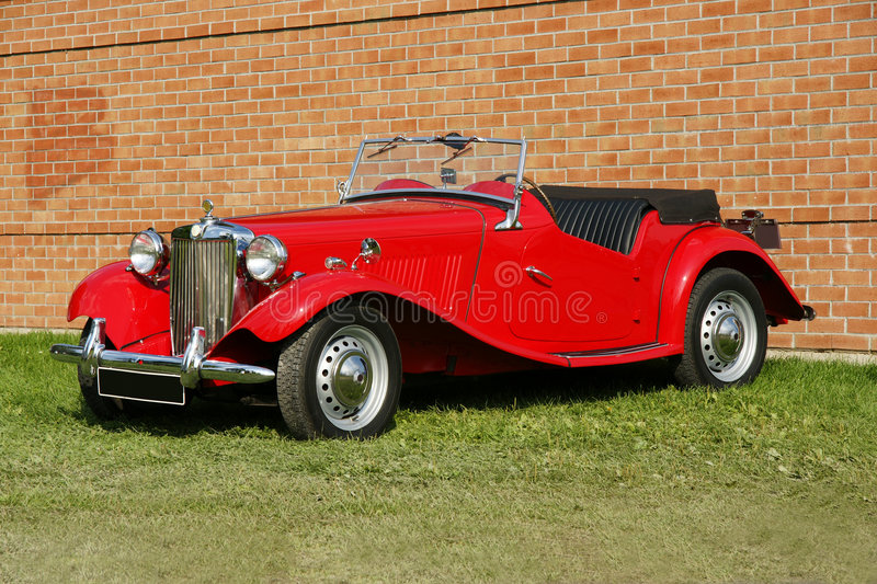 Vintage Car. Picture of the 1946 MG Roadster royalty free stock photo