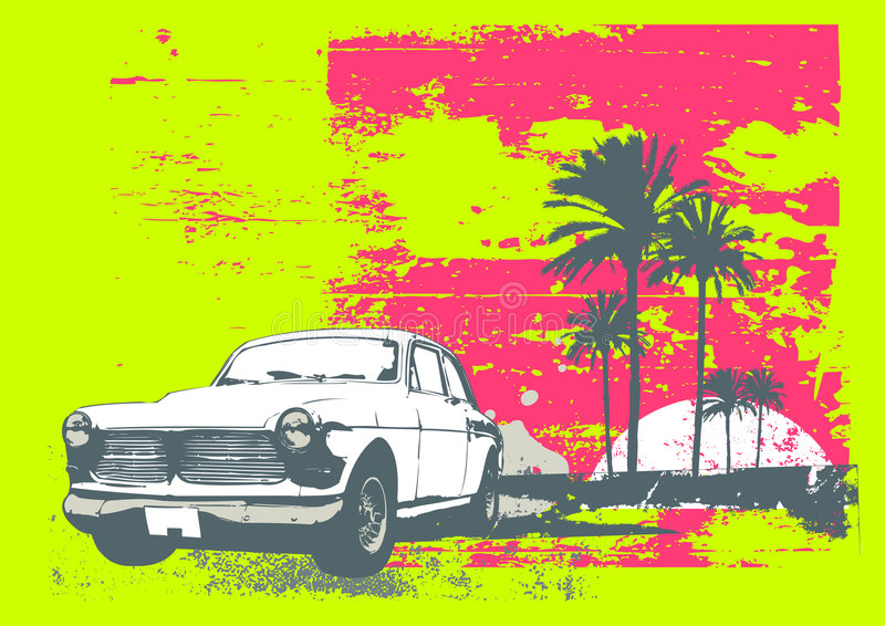 Vintage car royalty free illustration