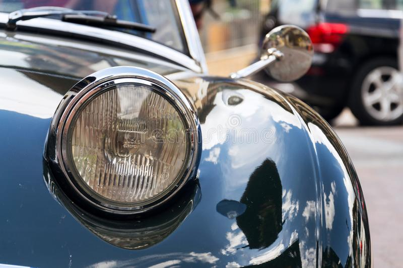 Vintage car Austin Healey Sprite roadster oldsmobile veteran produced from 1958 to 1971. SAALBACH-HINTERGLEMM, AUSTRIA - JUNE 21 2018: Vintage car Austin Healey stock photos