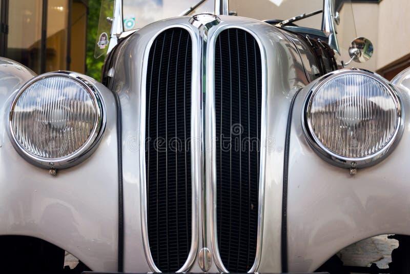 Vintage car BMW 328 roadster oldsmobile veteran produced from 1936 to 1940. SAALBACH-HINTERGLEMM, AUSTRIA - JUNE 21 2018: Vintage car BMW 328 roadster oldsmobile stock images