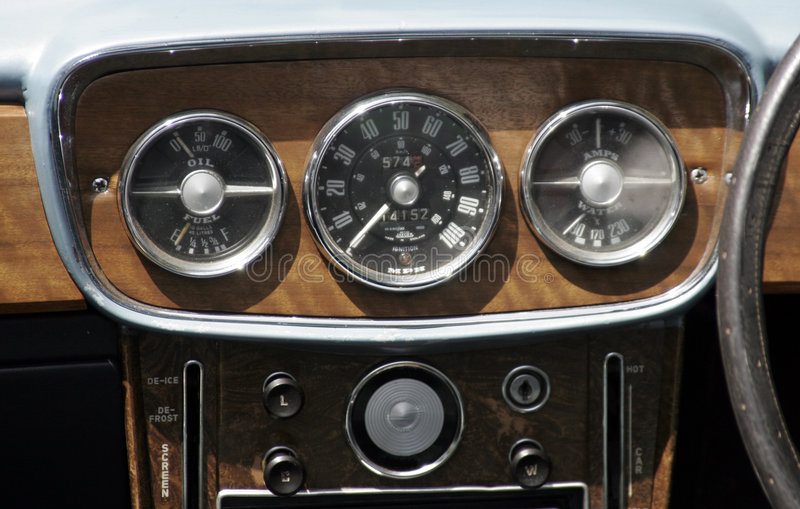vintage car dashboard stock photo image of meter. Black Bedroom Furniture Sets. Home Design Ideas