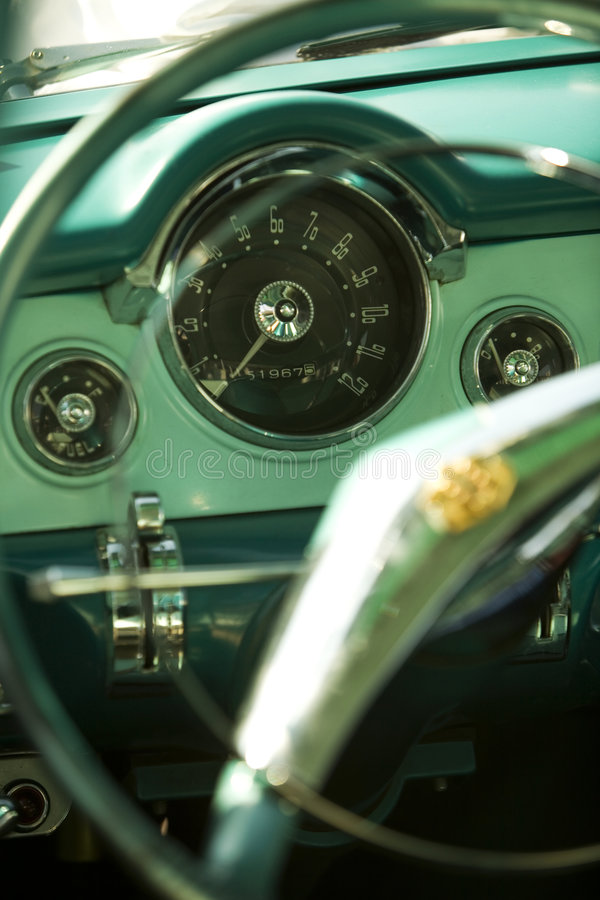 Download Vintage car dashboard stock image. Image of fashioned - 5270095