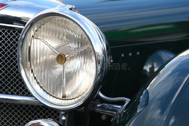 Vintage car headlight royalty free stock photo