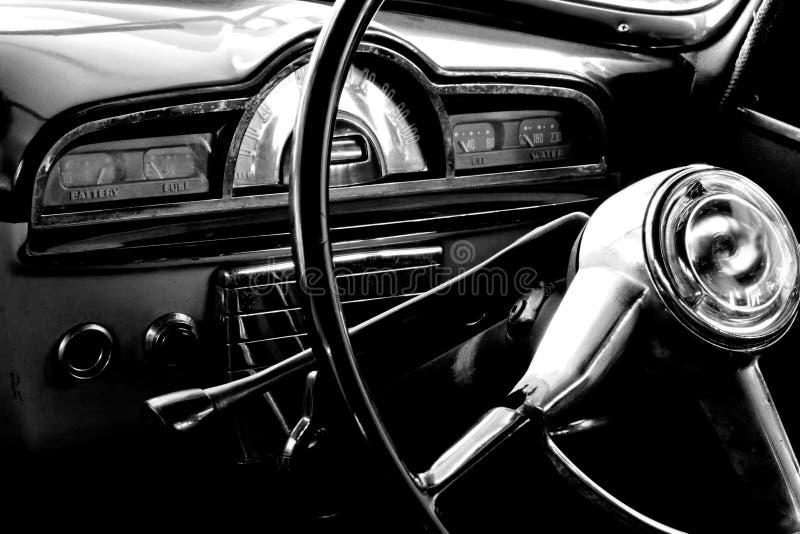Vintage car interior royalty free stock photography