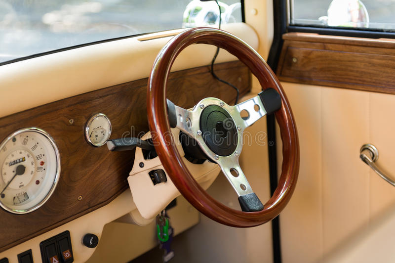 Vintage car interior stock images