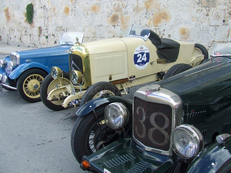 Vintage Car Line Up stock photo