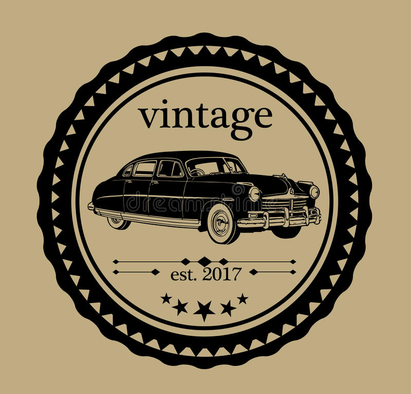 VINTAGE CAR LOGO stock vector. Image of drive, contest - 77276876