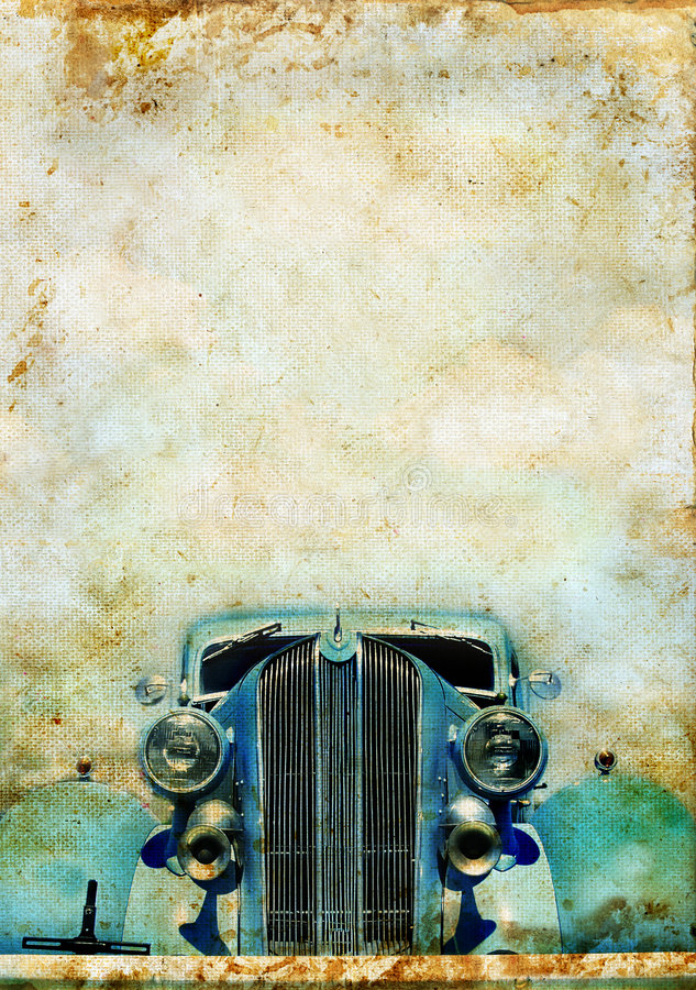 Free Vintage Car On A Grunge Background Stock Image - 6698391