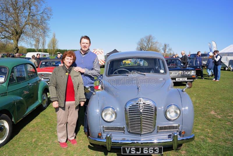 Vintage Car Rally 18 April 2015 stock photos