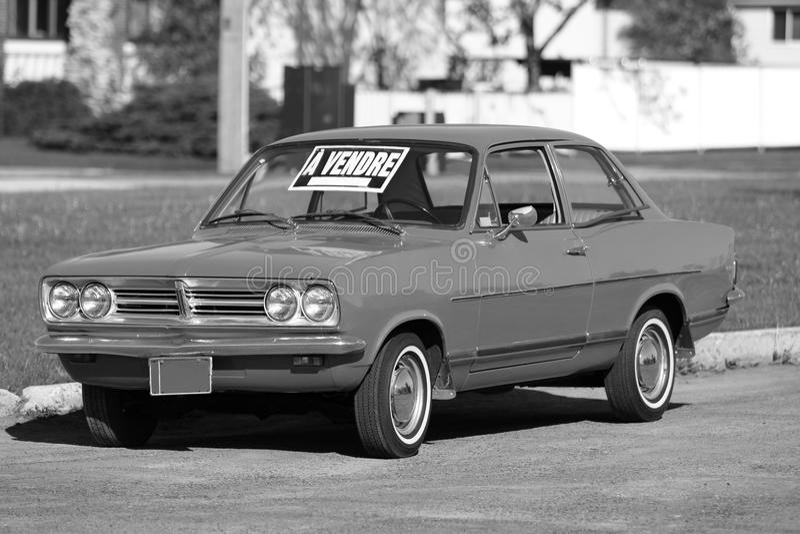 Vintage car for sale stock photos