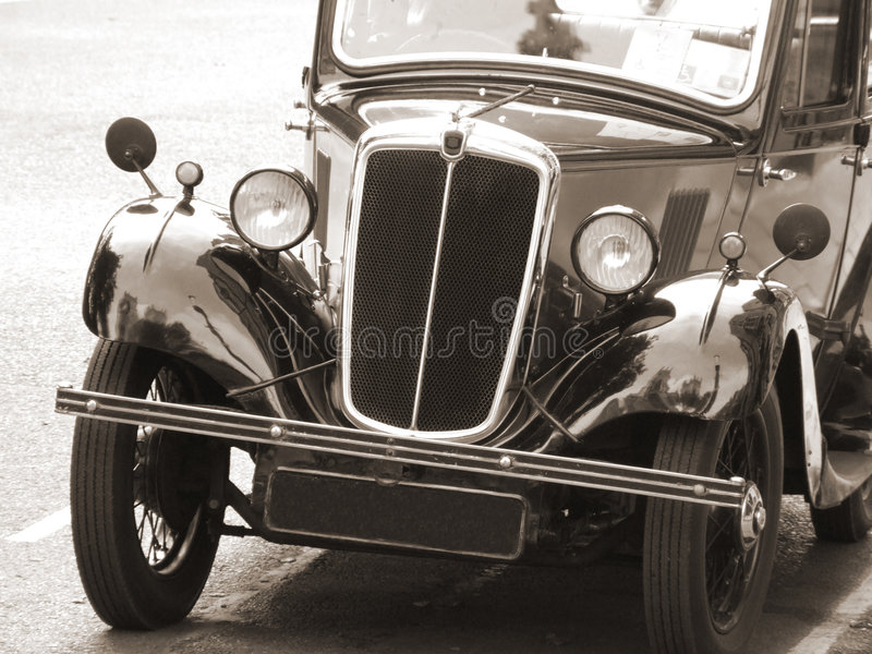 Download Vintage Car In Sepia Tone Royalty Free Stock Photography - Image: 1325987