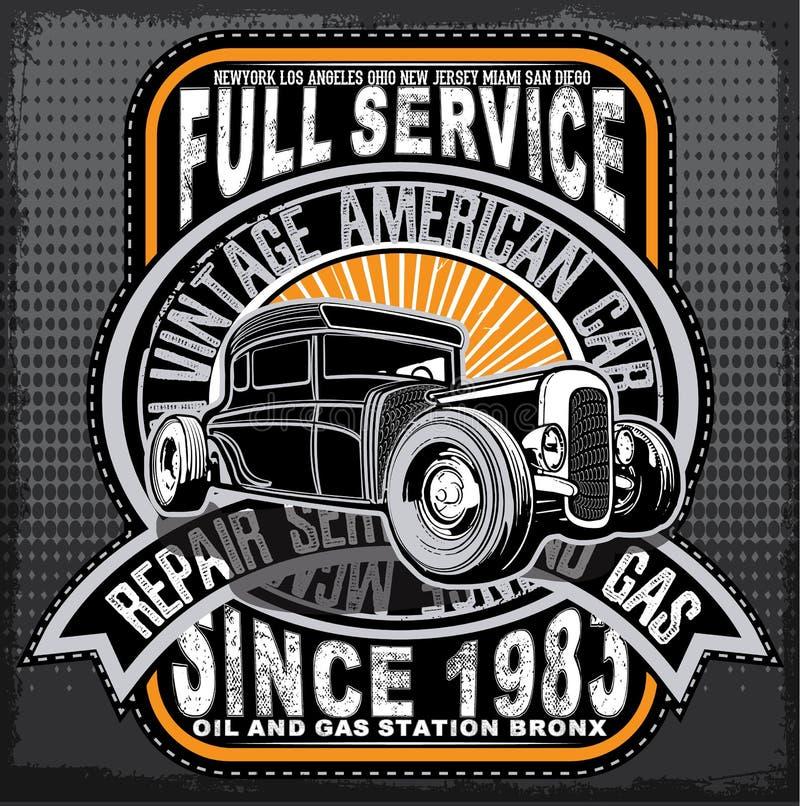 Vintage Car Tee Graphic Design Stock Vector Illustration Of Shape Repair 72221397