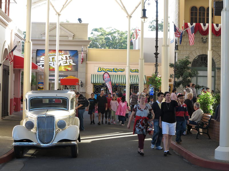 Vintage Car In Theme Park Setting Editorial Stock Image