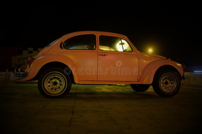 Vintage Car. Transportation vehicle retro commuting nopeople pink royalty free stock photos