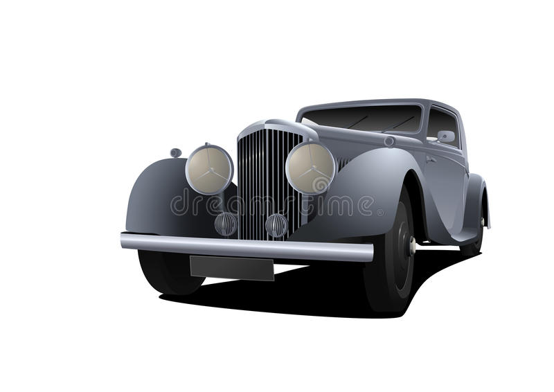 Vintage car (vector) royalty free illustration