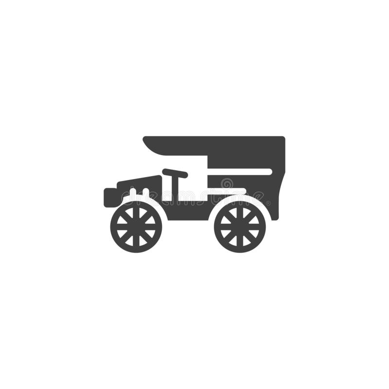 Vintage car vector icon. Old vehicle filled flat sign for mobile concept and web design. Classic retro auto glyph icon. Symbol, logo illustration. Vector vector illustration