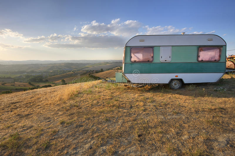 Download Vintage Caravan stock photo. Image of disuse, hills, camp - 38759460