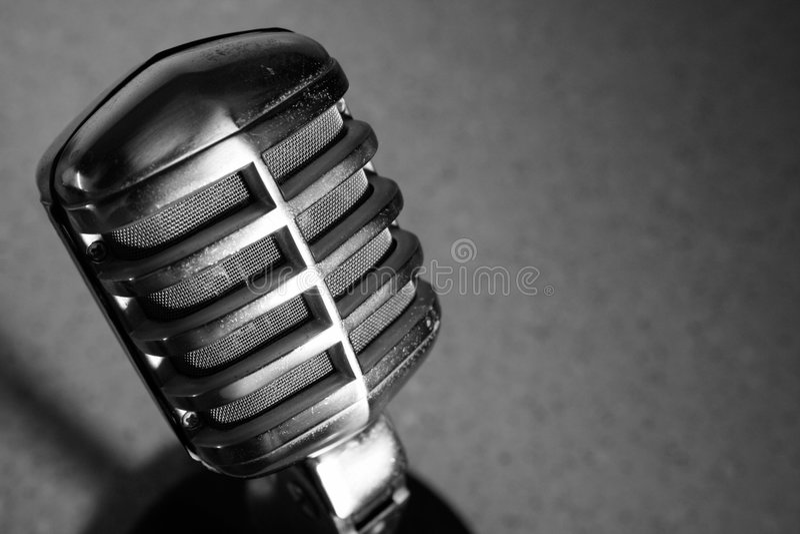 Vintage Carbon Microphone stock image